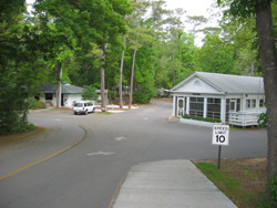the entrance to the myrtle beach campground