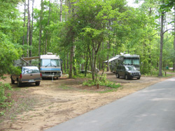 RVs in the Myrtle Beach campground