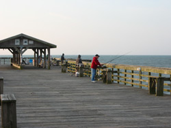 fishermen on the Myrtle Beach State Park fishing pier