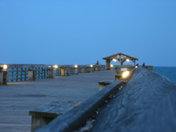 twilight on the fishing pier